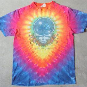 Vintage 87 GRATEFUL DEAD Space Your Face Tie Dye Rock Shirt
