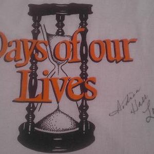 SIGNED! 1982 Days Of Our Lives signed vintage t-shirt