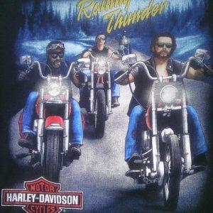 Vintage 1991 3D Emblem Harley Davidson Motorcycle t-shirt