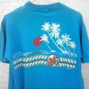1983 Op Ocean Pacific vintage t-shirt hibiscus flower beach