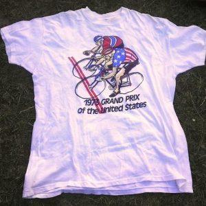 1973 Grand Prix of the United States Azuki Bicycle t-shirt