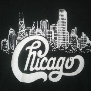 80s CHICAGO The Band SCREEN STARS Concert Vintage Tshirt emo