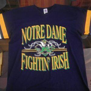 Vintage NOTRE DAME jersey t-shirt LOGO 7 1970s 80s college