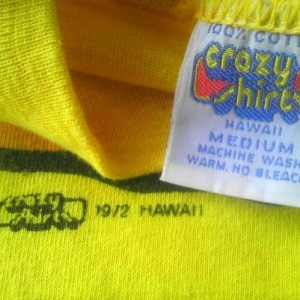 1972 Hawaii Crazy Shirts Frog Gar N Ser vintage t-shirt 70s