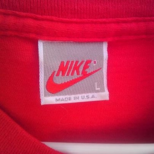 Vintage NIKE JUST DO IT grey gray label 80s or 90s t-shirt