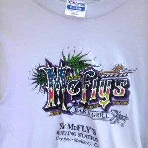 80s Sly McFly's Refueling Station Monterey CA vintage tshirt
