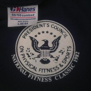 Vintage '82 President's Council National Fitness t-shirt