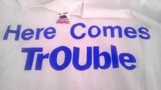 1990 MC TROUBLE extremely rare hip hop rap vintage t-shirt