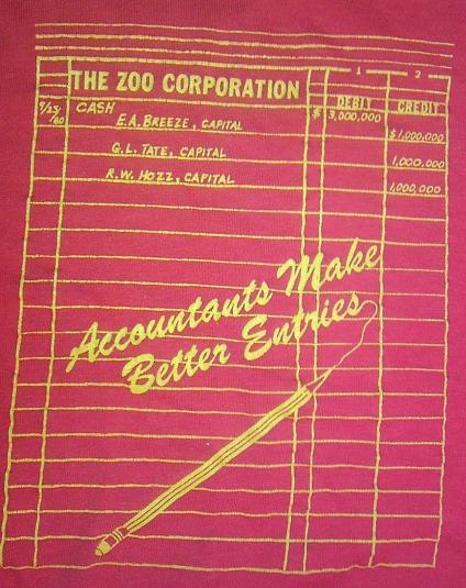Vintage 1980 Funny Accountants Make Better Entries t-shirt M