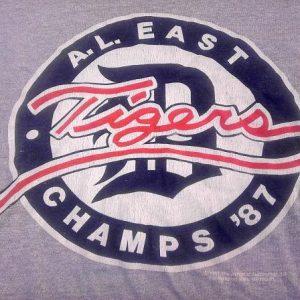 Vintage 1987 Detroit Tigers AL East Champs baseball t-shirt