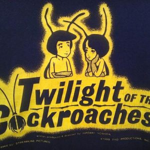 1989 TWILIGHT OF THE COCKROACHES Movie Anime vintage t-shirt