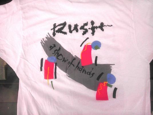 Vintage RUSH Show Of Hands 1989 t-shirt 80s concert