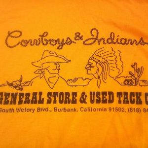 Vintage 80s Cowboys and Indians General Store t-shirt 50/50