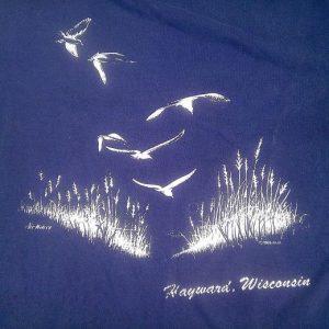 Vintage 1986 Hayward Wisconsin tourism america t-shirt