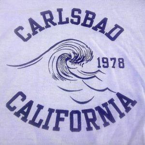 Vintage 1978 Surfing Carlsbad California ocean t-shirt 70s