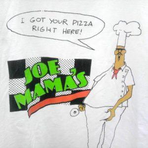 1988 JOE MAMA'S PIZZA funny humor vintage t-shirt Burbank