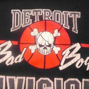 89 DETROIT BAD BOYS PISTONS Gangsta vintage t-shirt 88