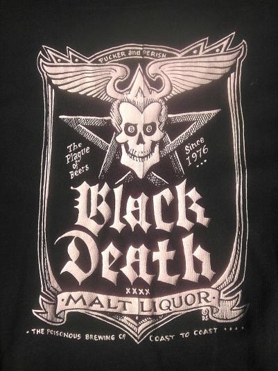 Original 1970s BLACK DEATH MALT LIQUOR WKRP Vintage T-shirt
