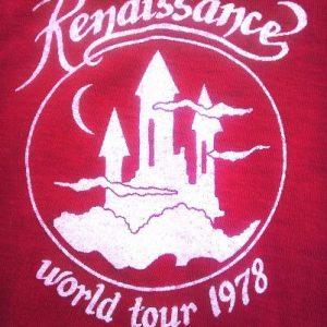 1978 RENAISSANCE Band World Tour Song Seasons Vintage tshirt