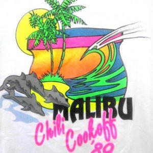 1989 Malibu Chili Cookoff Neon vintage t-shirt