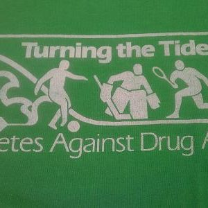 Vintage 1994-ish Athletes Against Drugs t-shirt