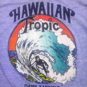 70s Rayon Hawaiian Tropic Daytona Beach Vintage T-Shirt 80s