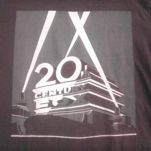 Vintage 80s 20th Century Fox Studios movie film cine t-shirt