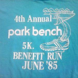 1985 Soft!! 5K Park Bench Benefit Run Vintage t-shirt 80s 85
