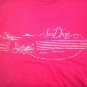 Vintage 80s San Diego Americas FInest City Jet Plane t-shirt