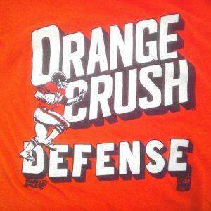 1977 ORANGE CRUSH DEFENSE Denver Broncos vintage t-shirt