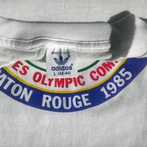 NOS 80s Adidas vintage t-shirt dead stock Baton Rouge 1985