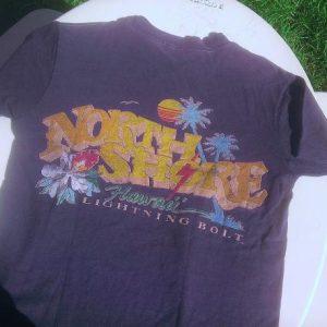 VINTAGE 80s NORTH SHORE HAWAII Lightning Bolt T-shirt