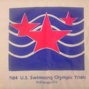 Vintage 1984 US Swimming Olympic Trials Indianapolis t-shirt