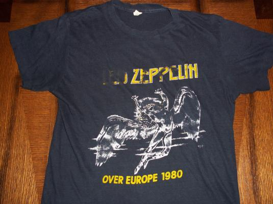 Vintage Led Zeppelin 1980 Over Europe Tour t-shirt SMALL S