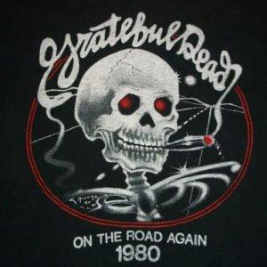 Vintage Grateful Dead 1980 On The Road Again t-shirt L
