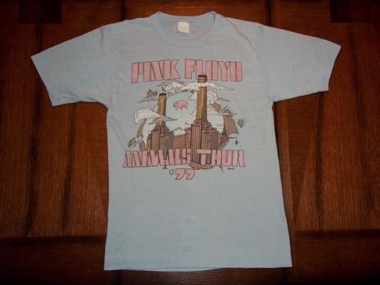 Vintage Pink Floyd 1977 Animals Tour t-shirt S PIG In AIR