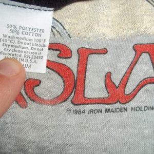 Vintage Iron Maiden 1985 PowerSlave concert t-shirt M soft!