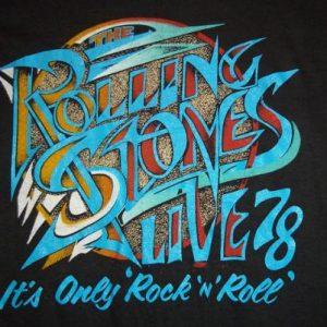 Vintage The Rolling Stones 1978 concert tour t-shirt SMALL S