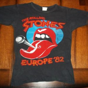 Vintage The Rolling Stones 1982 Europe concert t-shirt S