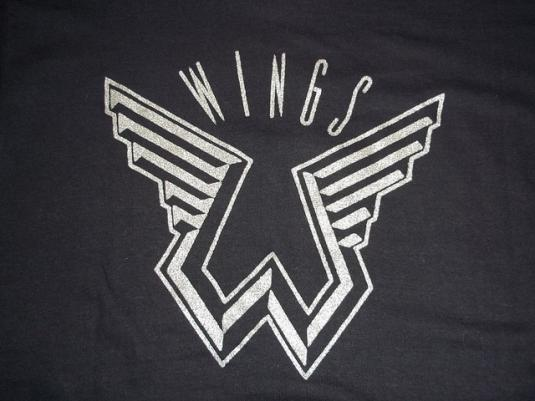 Vintage Wings SHOWCO 1970s concert tour t-shirt M rare