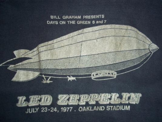 Vintage Led Zeppelin 1977 Day On The Green t-shirt M