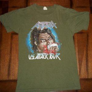 Vintage Anthrax U.S. Attack Tour 1983 concert t-shirt S