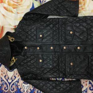 Vintage Chanel Paris Reversible Leather Hoodie Jacket