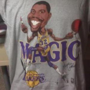 NBA Magic Johnson Lakers Large Head Caricature Deadstock