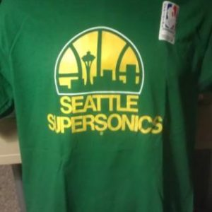 Vintage TRENCH Seattle SuperSonics NBA T Shirt NWTL/42-44