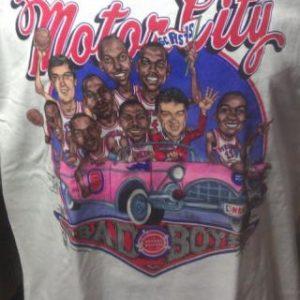 Deadstock NBA Detroit Pistons Motor City Bad Boys Caricature