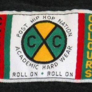 90's Vintage Cross Colours Hip Hop Black T Shirt Large