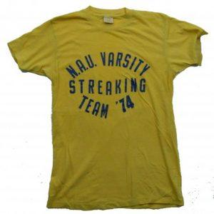 1974 NORTHERN ARIZONA UNIVERSITY STREAKING T SHIRT LARGE