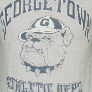 1980s Vintage Georgetown Hoyas Athletic Dept THIN T Shirt