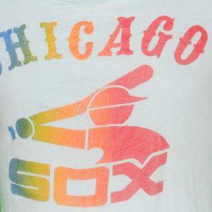 1970's Vintage Chicago White Sox Rainbow T Shirt